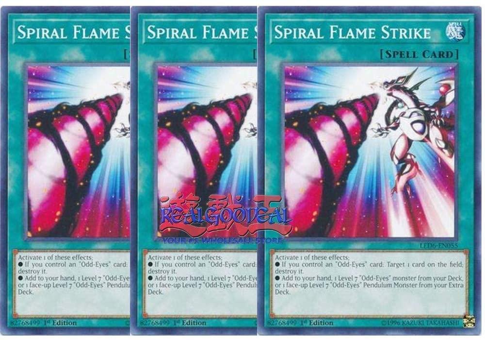 x3 Spiral Flame Strike LED6-EN055 Common ul