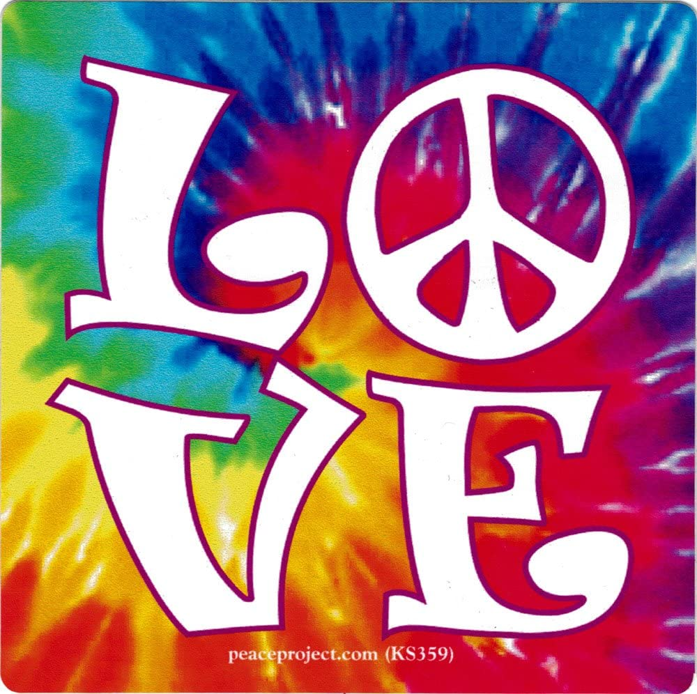 Peace Resource Project Love - Magnetic Small Bumper Sticker/Decal Magnet (3.25