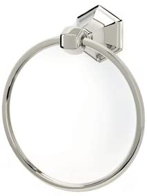 Alno A7740-PC Traditional Nicole Towel Rings, Polished Chrome, 7