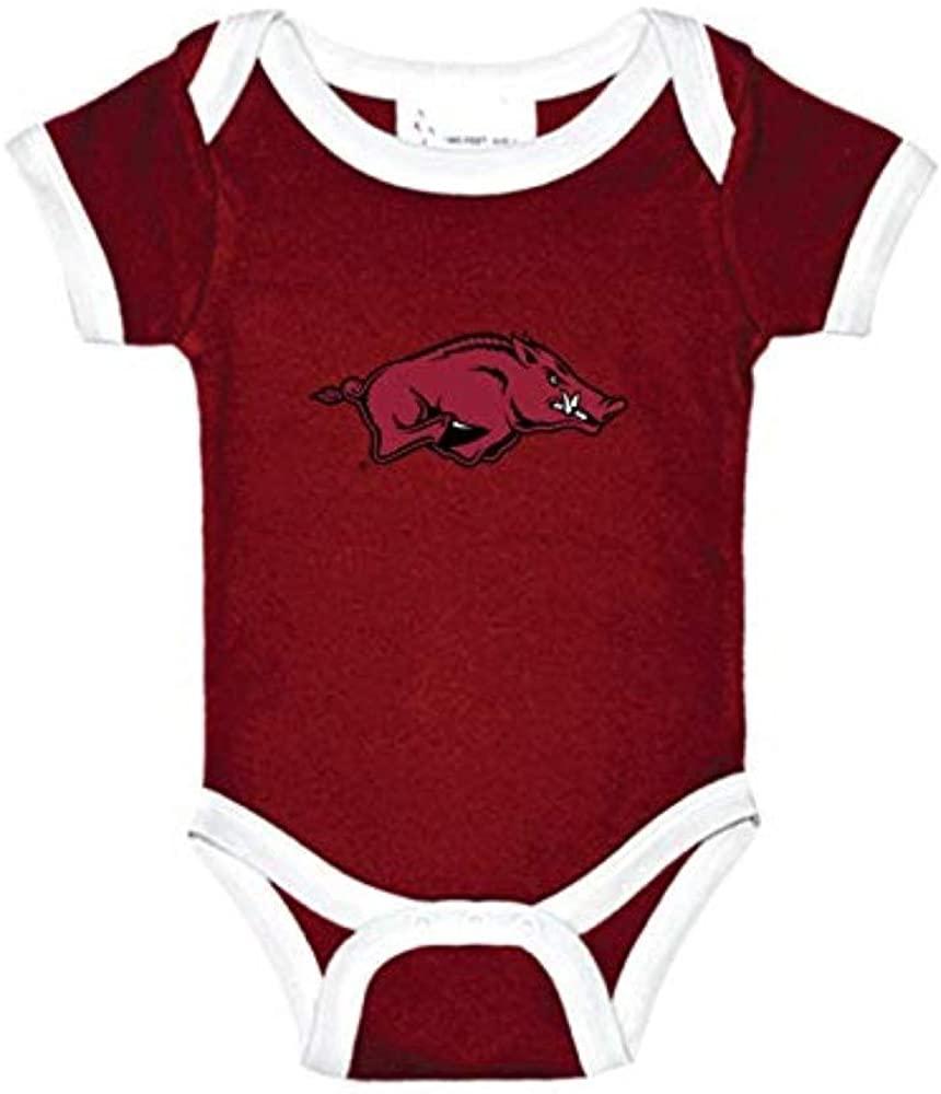 Arkansas Razorbacks Two Tone NCAA College Newborn Infant Baby Creeper