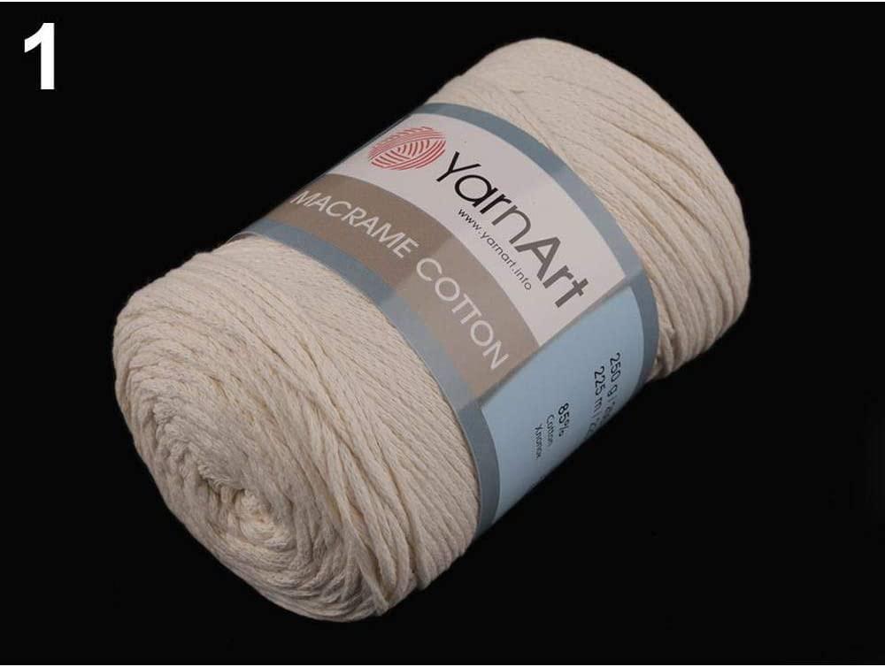 1pc 1 (753) Ecru Light Knitting Yarn Macrame Cotton 250g Yarnart, Cotton Crochet, Cotton Cord, Knitting, Crochet, Embroidery, Haberdashery