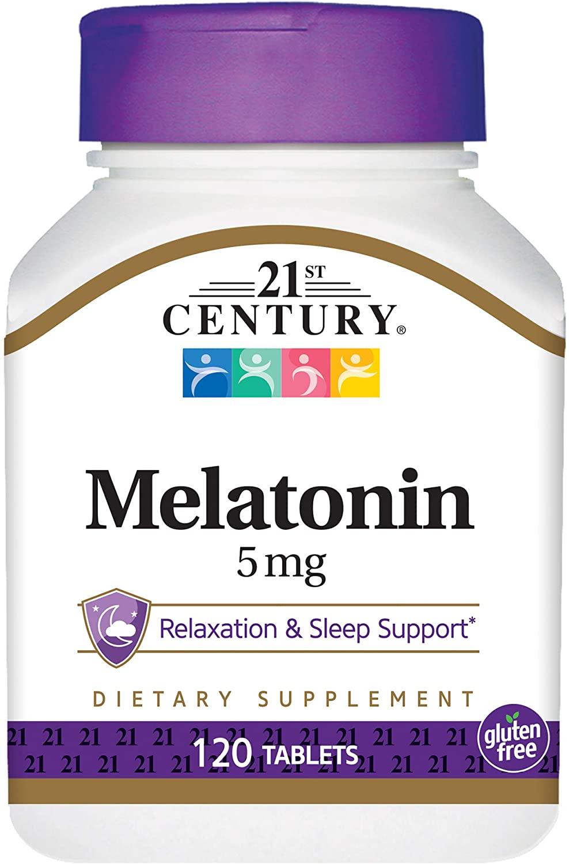 21st Century Melatonin 5 mg Tablets, 120 Count