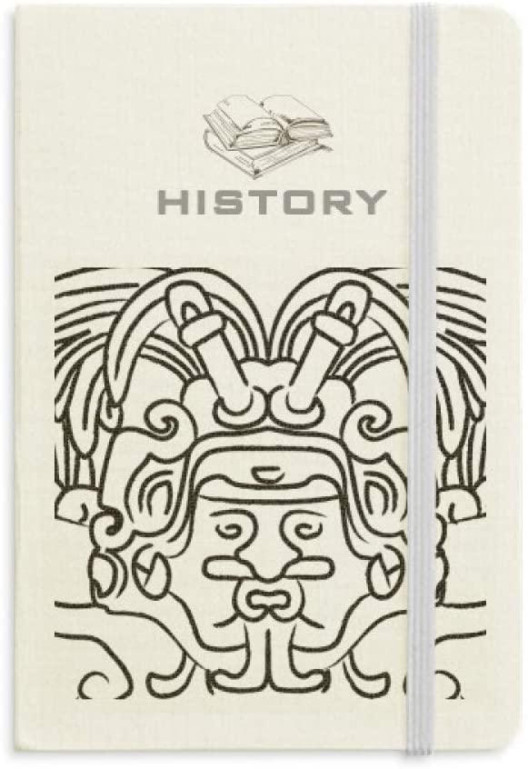 Egypt Figure Wings Fresco Asymmetric History Notebook Classic Journal Diary A5