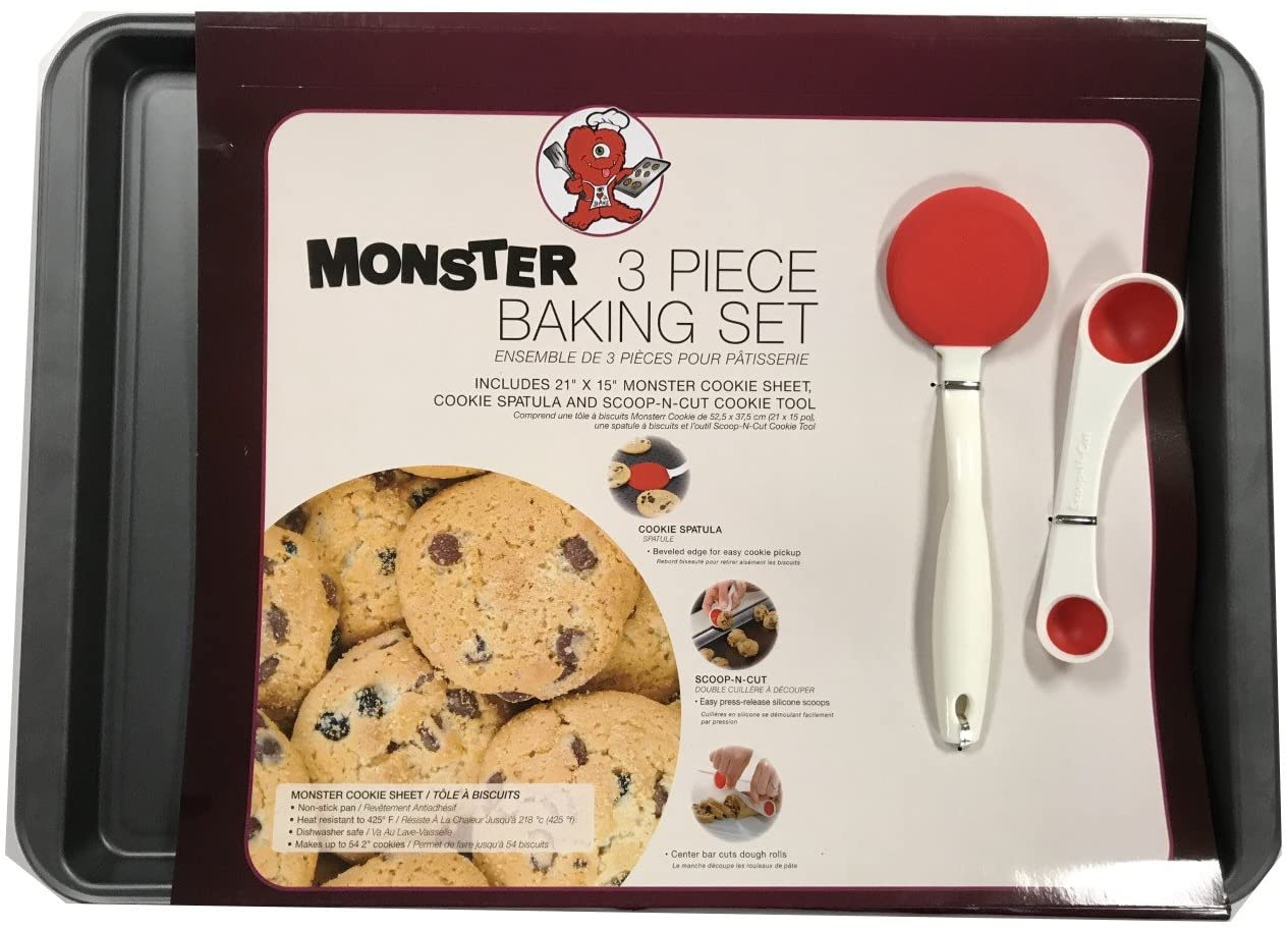 Monster 3 Piece Baking Set Includes 21