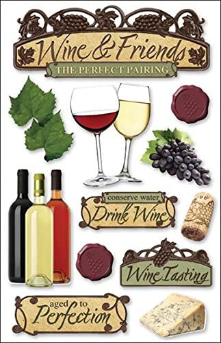Paper House STDM-0039E 3D Cardstock Stickers, Wine