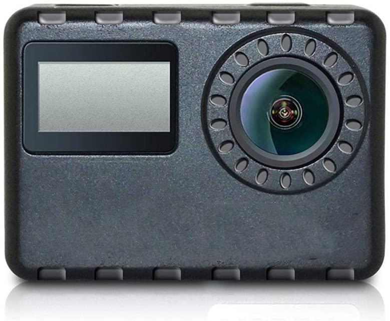 Yikuo 170-degree Wide-Angle Black 4K Sports Camera, Anti-Shake, Waterproof, 2.0-inch Hd IPS Touch Screen, WiFi Connection, Size 60x45x29mm Small
