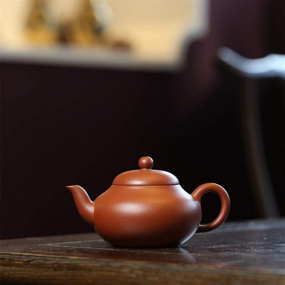 SHENLIJUAN teapot ore hand-wrinkled skin Zhuni pear-shaped pot tea teapot kung fu tea (Color : Purple mud)