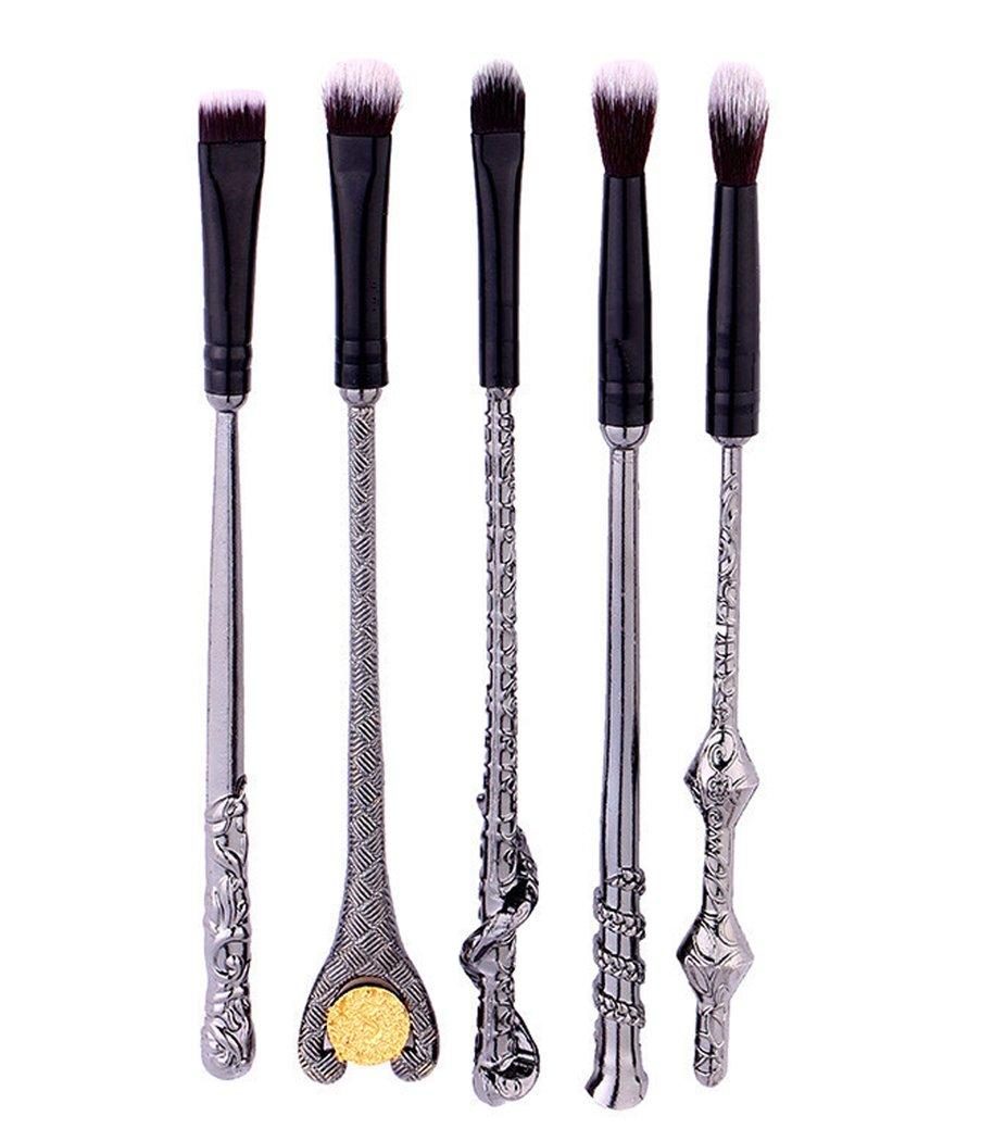 Hillento Beauty Makeup Brushes, Harry Potter Makeup Brushes, 5PCS Foundation Blending Blush Eyeshadow Face Powder Brush Makeup Soft Fan Brush Foundation Brushes Make Up Tool