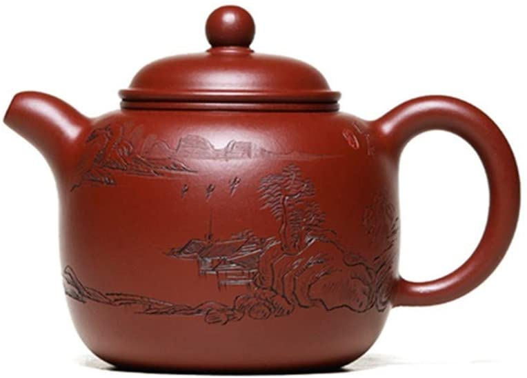 SHENLIJUAN Pao respect teapot ore Dahongpao tea masters all handmade teapot (Color : Red)