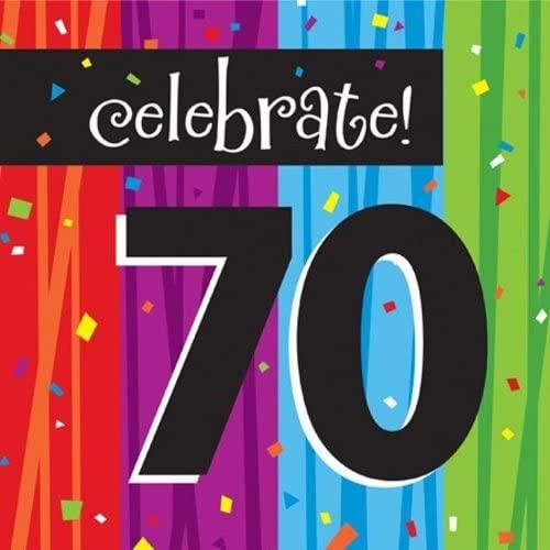 16-Count Paper Lunch Napkins, Celebrate 70, Milestone Celebrations