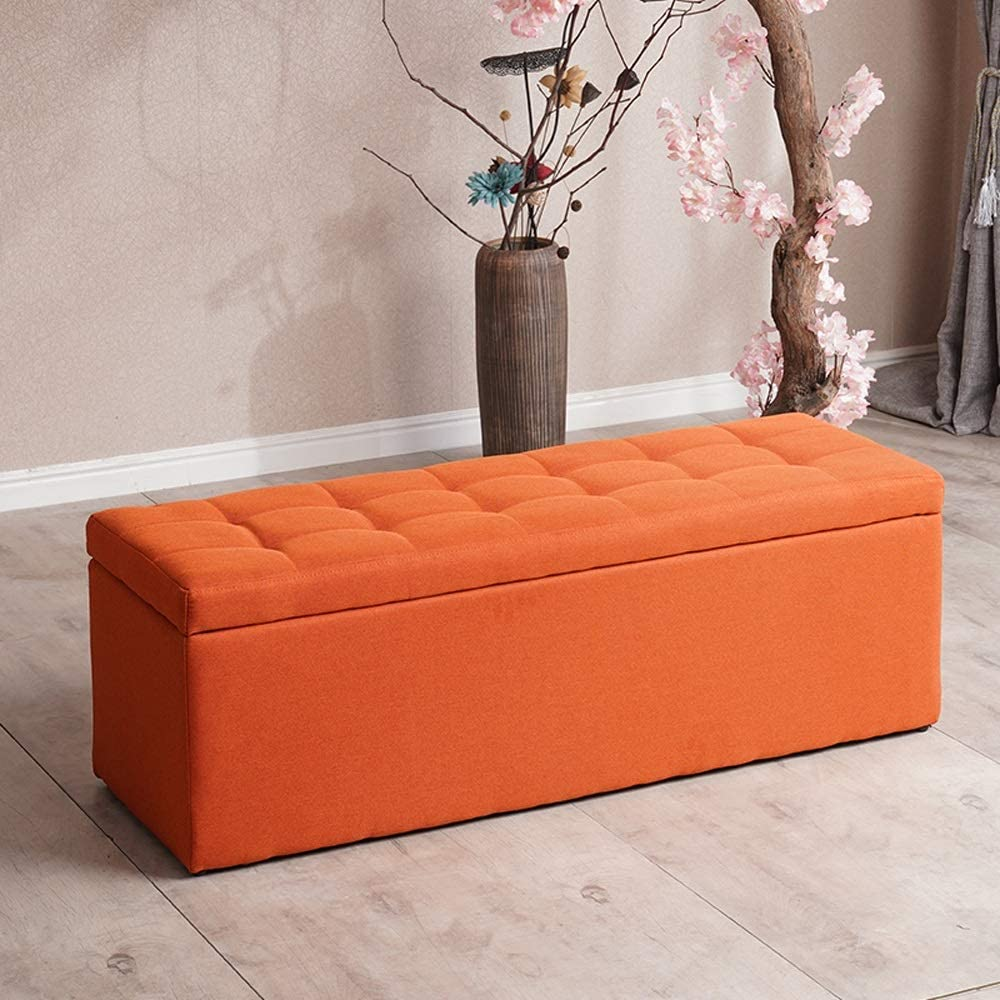 LSX--Ottomans Storage Stool, High-Density Sponge Material Shopping Mall Shoes Bench Footstool Rest Stool Home Sofa Bench Bedroom Bed Stool, 3 Colors, 6 Sizes Storage