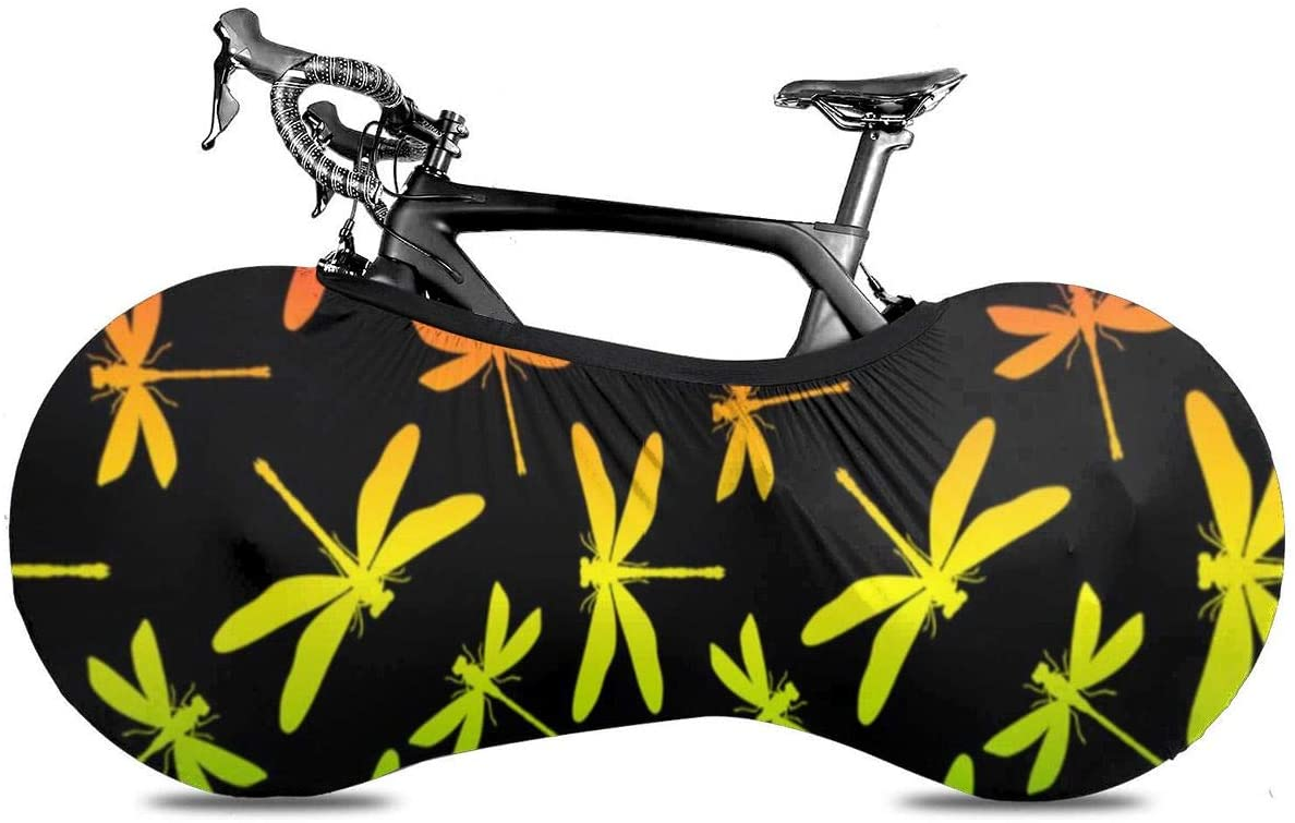THONFIRE Bicycle Wheel Cover Dragonflies Anti-dust Storage Bag Durable Rustproof for Mountain Road Motorcycle