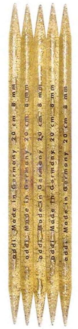 addi Knitting Needle Double Pointed Plastic 8 inch (20cm) (Set of 5) Size US 17 (12.0mm)