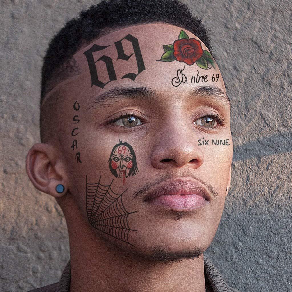 6ix9ine Temporary Tattoos Set