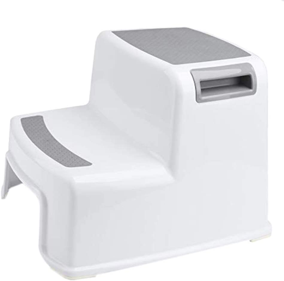 LWW Wide + 2 Step Stool,for Kids Toddler Stool,for Toilet Potty Training Slip Resistant Soft Grip for Safe As Bathroom Potty Stool a/A/As Shown