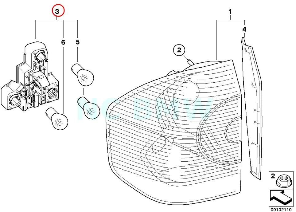 BMW Genuine Left Bulb Socket