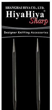 HiyaHiya Circular 16 inch (41cm) Sharp Steel Knitting Needle Size US 1.5 (2.5mm) HISSTCIR16-1.5