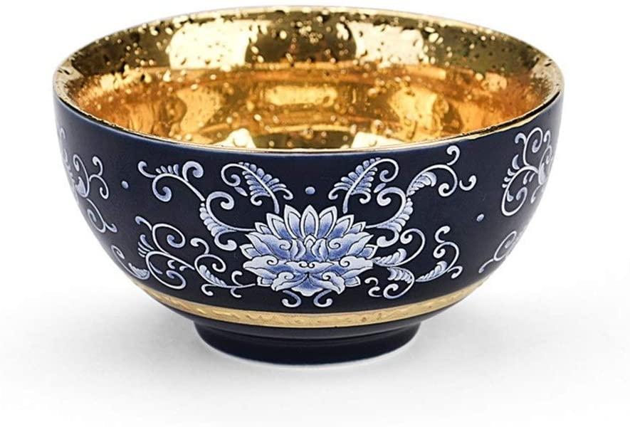 MADONG Ceramic gilt cup tea cup Kung Fu Tian Mu build a single cup of household heat lamp Personal cup tea (Color : Kaleidoscope Cup)