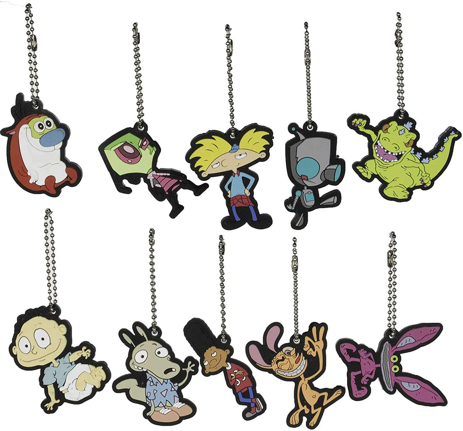 Store On Wheels Party Favors - Nickelodeon Nick 90s Key Chains/Charms Set of 10 Pieces