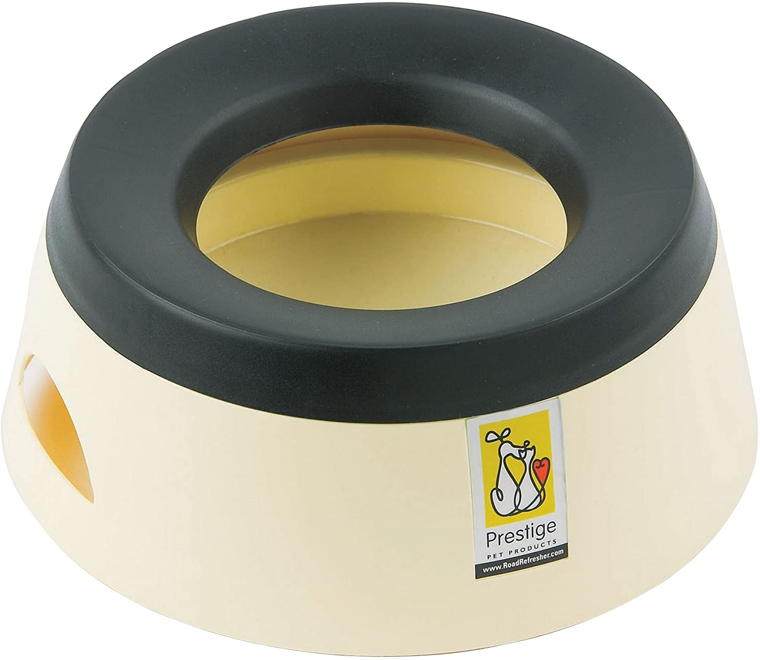 (Road Refresher) Non-Spill Travel Water Bowl Small (Cream)