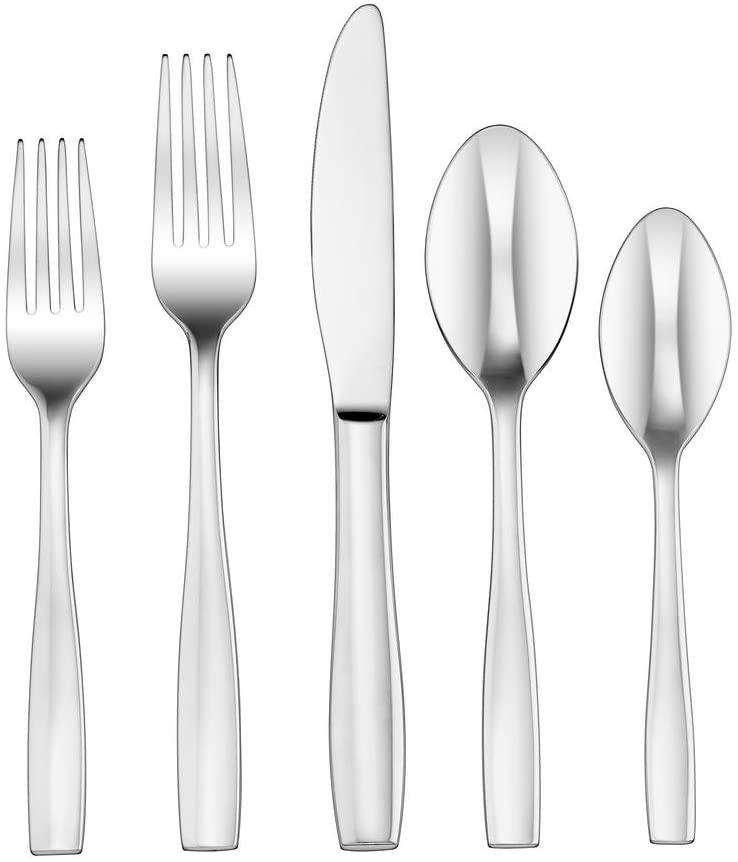 Cuisinart CFE-20PSN 20 Piece Sienna Elite Flatware Set, Silver