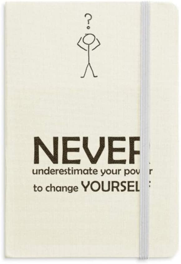 Quote You Can Change Yourself Question Notebook Classic Journal Diary A5