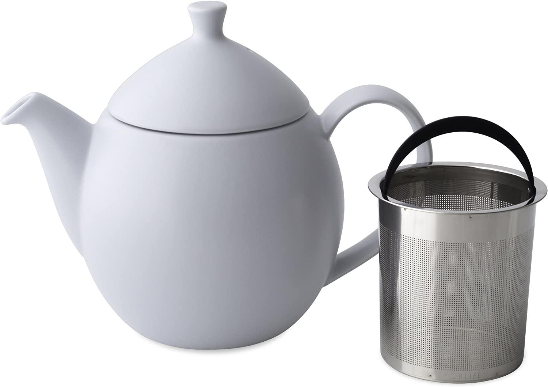 FORLIFE Dew Teapot with Basket Infuser, Lavender Mist, 32 oz/946ml