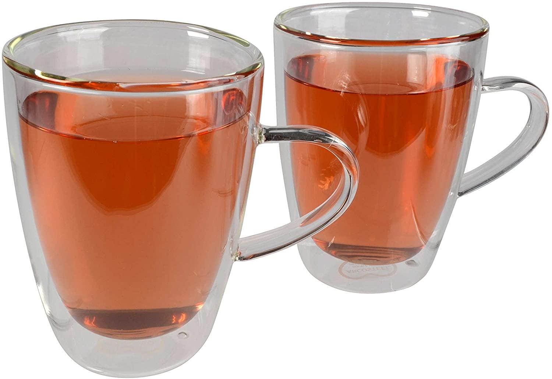Artland Harmony Double Wall Tea Mug, 12 oz, Clear,Set of 2