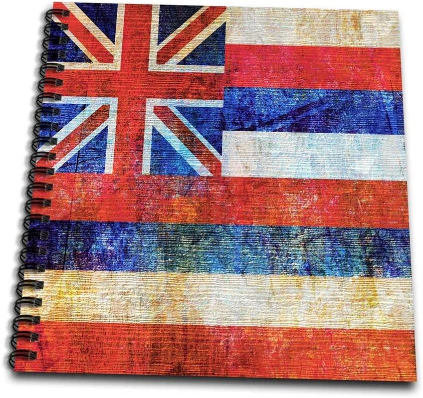 3dRose Distressed Style Grunge Flag of Hawaii Wirebound Notebook (db_268072_2)