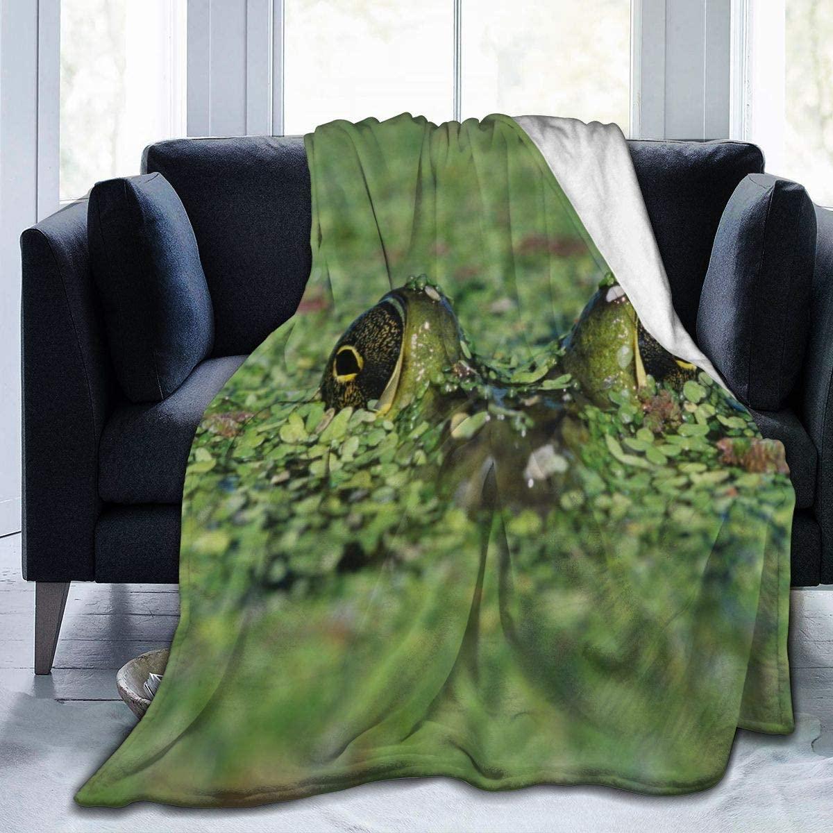 Micro Fleece Plush Soft Baby Blanket Bullfrog Camouflage Duckweed Fluffy Warm Toddler Bed/Crib Blanket Lightweight Flannel Daycare Nap Kids Sleeping Tummy Time Throw Blanket Girls Boy Kid/Baby