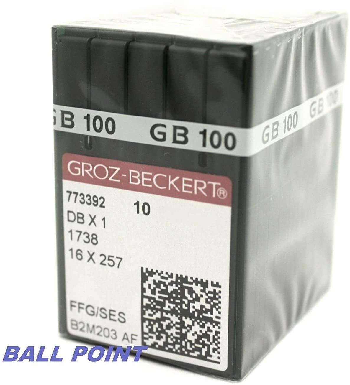 100 Groz Beckert Ball-Point (FFG/SES) 16X231 16X257 DBX1 Sewing Machine Needles (Size 11 (Metric Size 75))