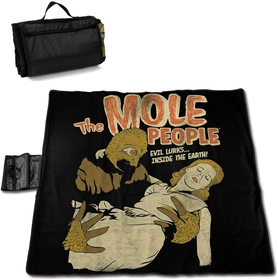 Htw The Mole People Portable Printed Picnic Blanket Waterproof 59x57(in)