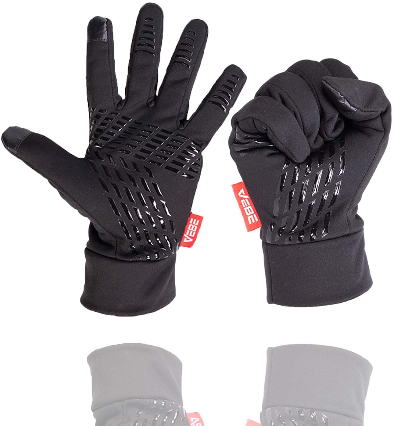 VEBE Lightweight Winter Gloves Touch Screen Cold Weather Running Gloves Water Resistant & Windproof Driving Biking Cycling Workout Gloves for Men & Women