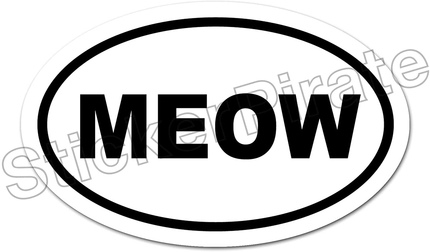 Oval Car Magnet Meow Magnetic Bumper Sticker