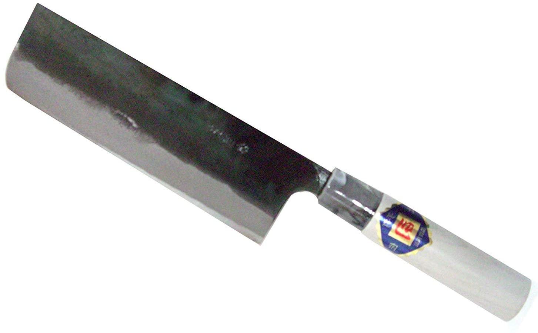 TOSA Kitchen Knife Nakiri Bocho-Kichen knife for cutting vegetable white steel 165 mm