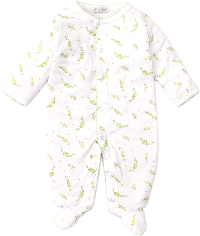 Kissy Kissy Unisex-Baby Infant Green Peas Print Footie