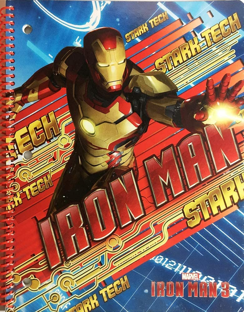 IRON MAN 3 1-SUBJECT NOTEBOOK, WIDE-RULED, 50 SHEETS / 100 PAGES, 8