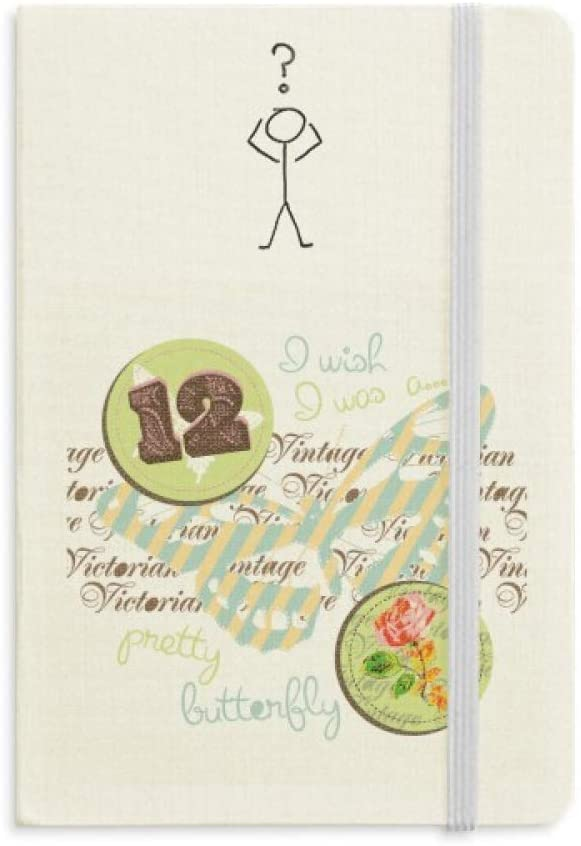 Stamps and Butterfly Question Notebook Classic Journal Diary A5