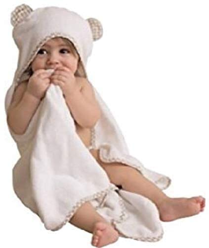 Skyla Homes - Baby Ultra Soft Bamboo Hooded Baby Towel with Washcloth - Hooded Bath Towels with Ears for Babies, Toddlers - Large Baby Towel Perfect for Boys and Girls