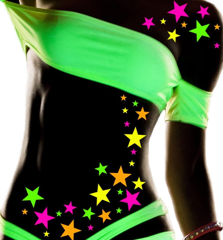Sasswear Blacklight Body Stickers - Neon, 40/pk (Star)