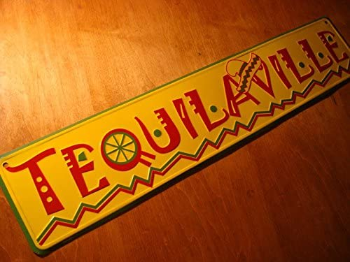 Tequilaville Lime & Sombrero Sign Tequila Bar Mexican Restaurant Decor
