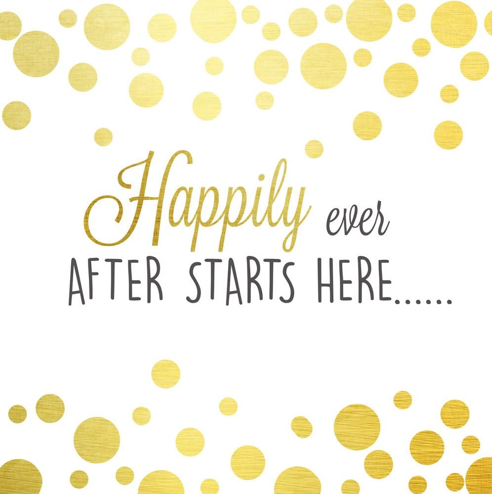Cypress Home Happily Ever After Starts Here Paper Cocktail Napkin, 20 count