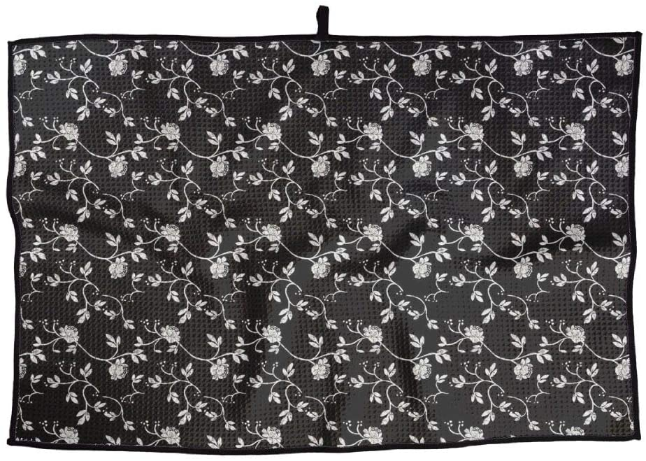 SHARP-Q Black and White Roses Premium Golf Towel Fashion Towel