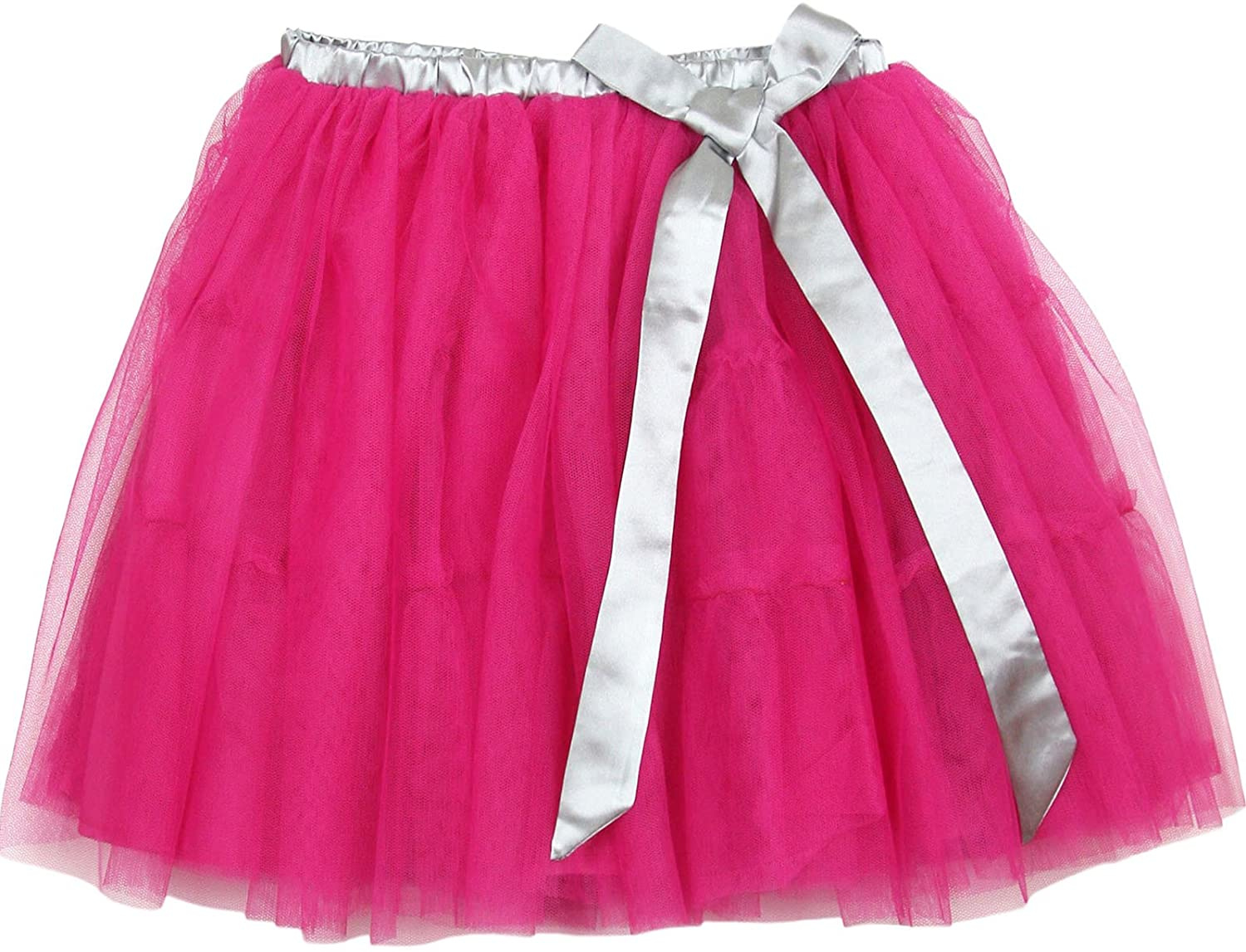 Deux par Deux Girls' Fushia Tulle Skirt Poppy Love, Sizes 7-12