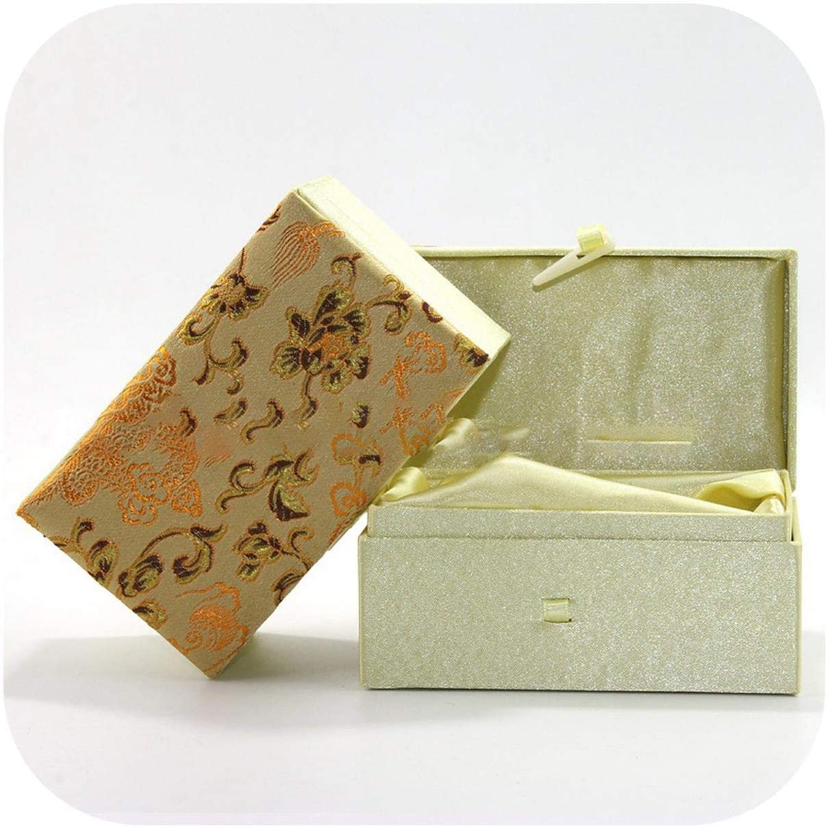 JingSe Jewelry Box 12.576.5 Gift Packaging Brocade Box Made Handle Pieces Wenwan Walnut Box-Lacquer Dragon-12.576.5Cm