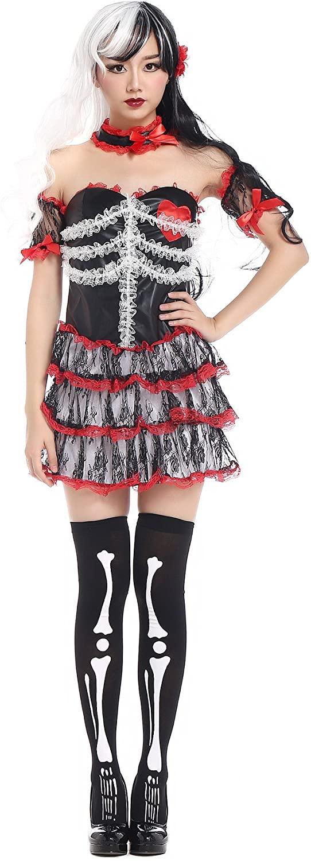 PINSE Catrina Burlesque Skeleton Costume
