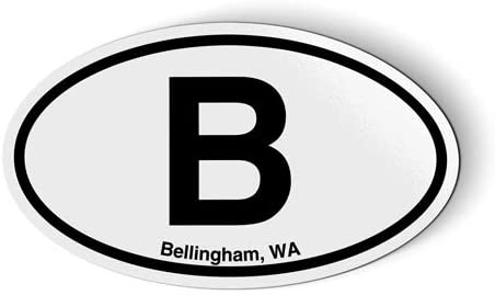 Stickers & Tees B Bellingham WA Oval - Car Magnet - 5