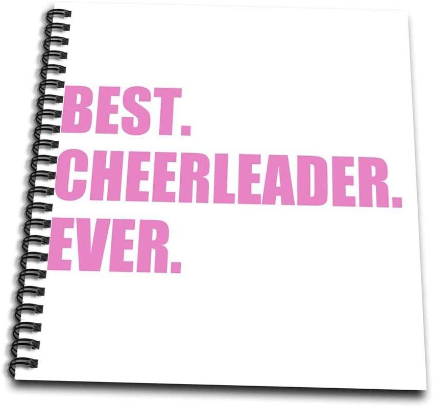 3dRose db_179766_1 Pink Best Cheerleader Ever Greatest Head or Team Cheerleading Girl Drawing Book, 8 by 8