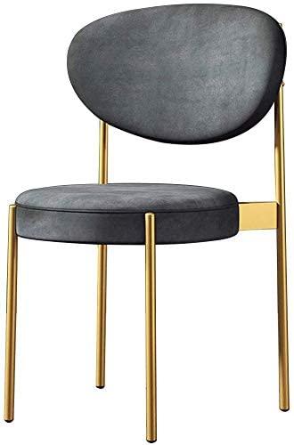 HOMRanger Elegant Gray Velevt Dining Chair - Leisure Restaurant Cafe Backrest Chair - Household Dressing Seat Chair - Office Negotiation Chair,Max Load 150KG