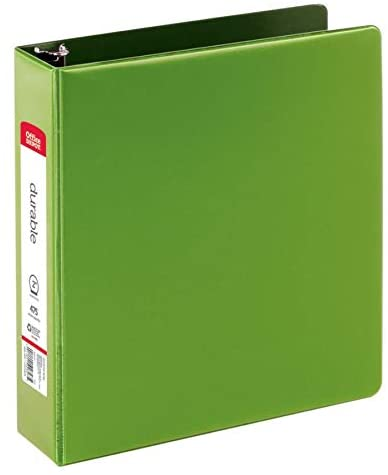 Office Depot Nonstick Round-Ring Binder, 2in. Rings, 100% Recycled, Green, OD03322